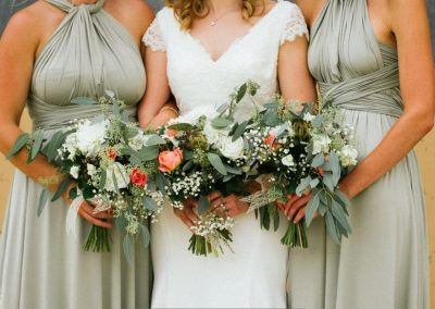 bridesmaids bouquets_pastel_summer_bridesmaid_Oxleaze Barn_Enchanted Floristry_Green Button