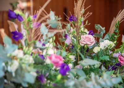 close up of table decor_pastel_winter_table_Enchanted Floristry_Caswell House