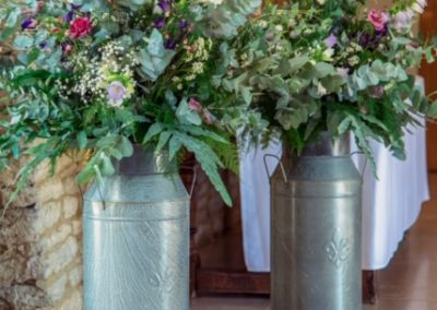 milk churn display_pastel_winter_ceremony_Enchanted Floristry_Caswell House