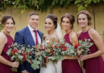 bridal party bouquets_bright_autumn_bouquet_Enchanted Floristry_Oxleaze Barn_Rachel Blackwell Photography